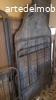 Letto 1900 in ferro con decorazione e cassettoni