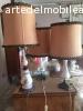 Lumi caramica dipinta a mano e lampadario ottone