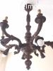 Piantana, lume e lampadario in legno massello